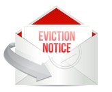 eviction notice mail or email illustration design